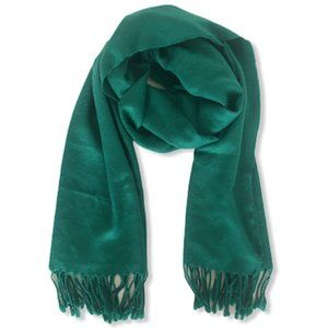 H&M Big Green Scarf with Fringe